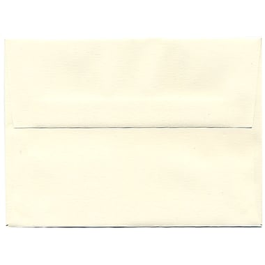 JAM Paper® A6 Invitation Envelopes, 4.75 x 6.5, Strathmore Natural White Linen, 250/Pack (74083H)