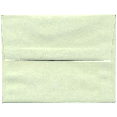JAM Paper® A2 Invitation Envelopes, 4.38 x 5.75, Parchment Green Recycled, 250/Pack (75066H)