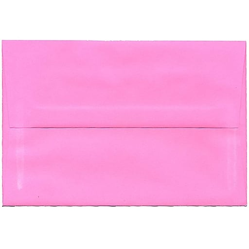 JAM Paper® A8 Colored Invitation Envelopes, 5.5 x 8.125, Ultra Pink, Bulk 250/Box (796284H)