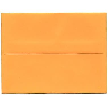 JAM Paper® A2 Invitation Envelopes, 4.38 x 5.75, Brite Hue Ultra Orange, 250/Pack (80336H)