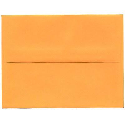 JAM Paper® A2 Invitation Envelopes, 4 3/8 x 5 3/4, Brite Hue Ultra Orange, 50/pack (80336I)