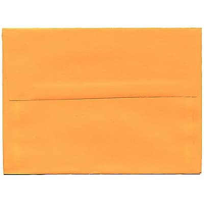 JAM Paper® A6 Invitation Envelopes, 4.75 x 6.5, Brite Hue Ultra Orange, 50/pack (80344I)