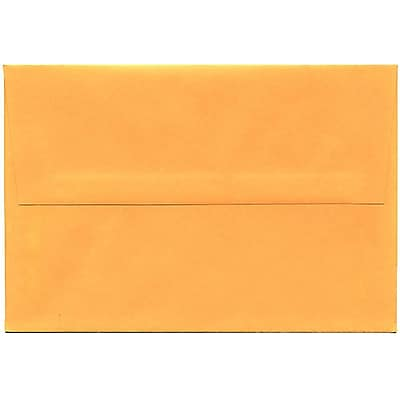 JAM Paper® A8 Invitation Envelopes, 5.5 x 8.125, Brite Hue Ultra Orange, 50/pack (80369I)