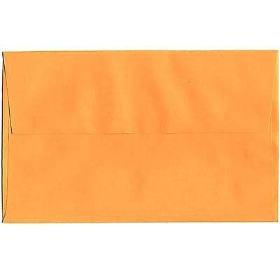 JAM Paper® A10 Invitation Envelopes, 6 x 9.5, Brite Hue Ultra Orange, 250/box (80377H)