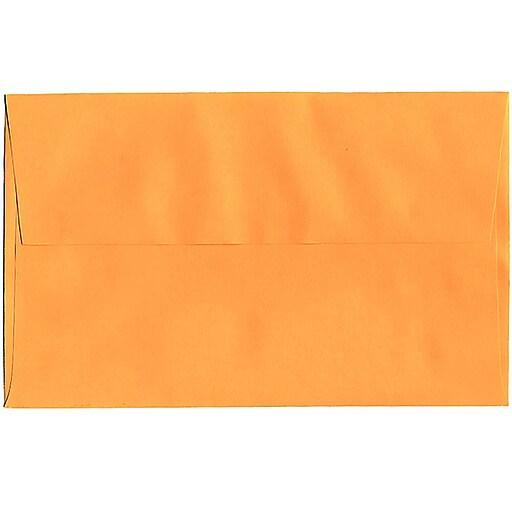 JAM Paper® A10 Colored Invitation Envelopes, 6 x 9.5, Ultra Orange, 50/Pack (80377I)