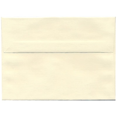 JAM Paper® A7 Invitation Envelopes, 5.25 x 7.25, Strathmore Natural White Linen, 250/box (82011H)