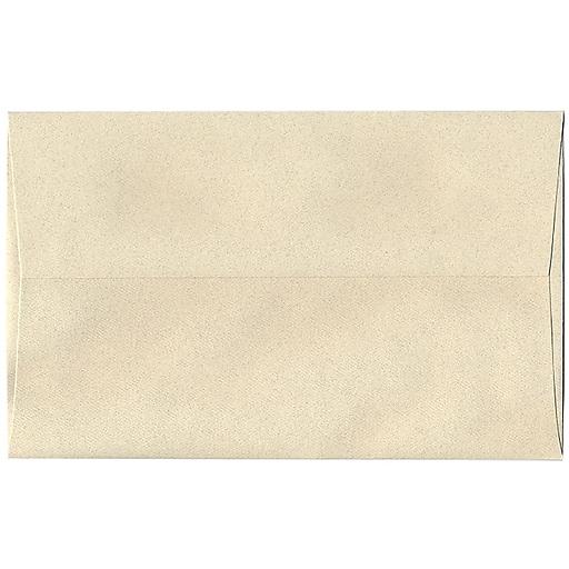 JAM Paper® A10 Passport Invitation Envelopes, 6 x 9.5, Gypsum Recycled, 50/Pack (83793I)