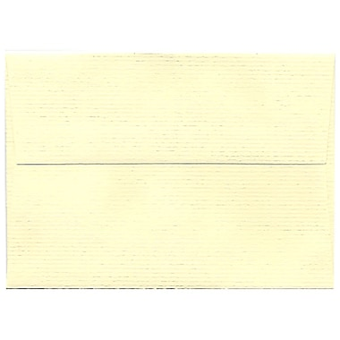 JAM Paper® 4bar A1 Envelopes, 3 5/8 x 5 1/8, Strathmore Ivory Laid, 250/box (900734088H)