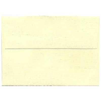JAM Paper® 4bar A1 Envelopes, 3 5/8 x 5 1/8, Strathmore Ivory Laid, 50/Pack (900734088I)