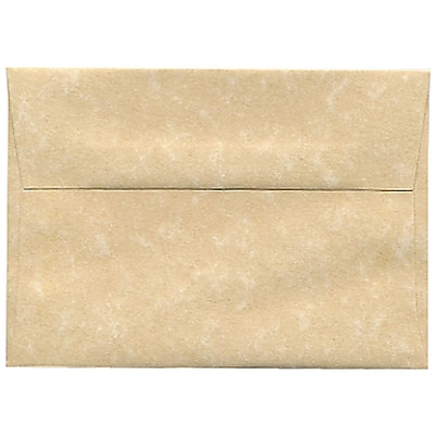 JAM Paper® 4bar A1 Envelopes, 3 5/8 x 5 1/8, Parchment Brown Recycled, 50/pack (900755332I)