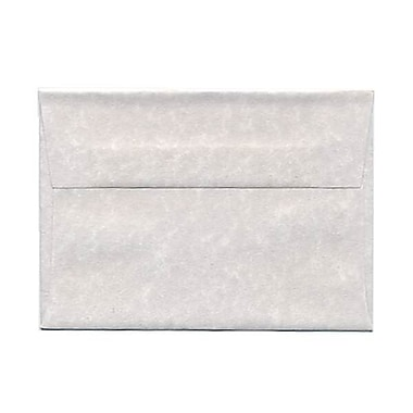 JAM Paper® 4bar A1 Envelopes, 3.63 x 5 1/8, Parchment Pewter Grey Recycled, 250/Pack (900755334H)