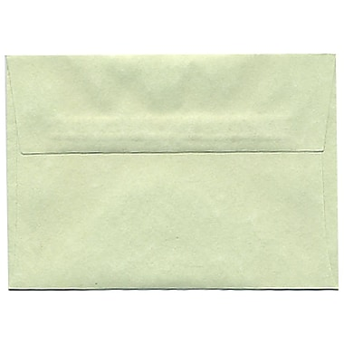 JAM Paper® 4bar A1 Envelopes, 3.63 x 5 1/8, Parchment Green Recycled, 250/Pack (900826112H)