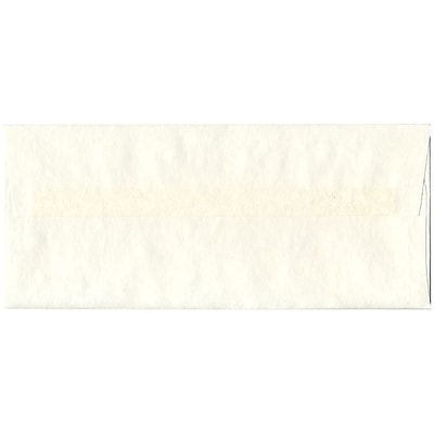 JAM Paper® #10 Business Envelopes, 4 1/8 x 9 1/2, Parchment White Recycled, 50/pack (900829012I)