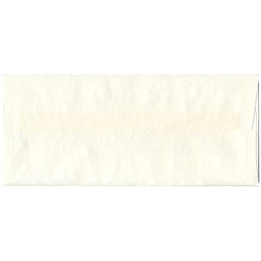 JAM Paper® #10 Parchment Business Envelopes, 4.125 x 9.5, White Recycled, 50/Pack (900829012I)