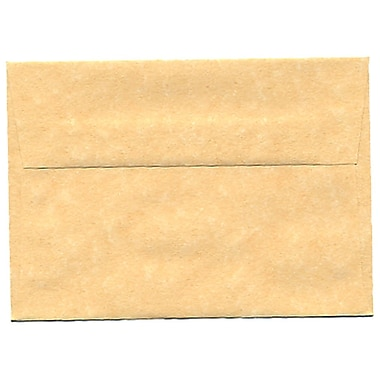 JAM Paper® 4bar A1 Envelopes, 3.63 x 5 1/8, Parchment Antique Gold Yellow Recycled, 250/Pack (90090522H)