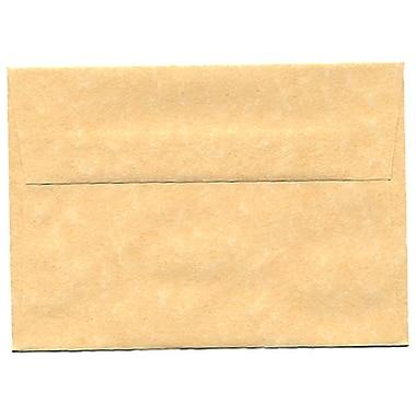 JAM Paper – Enveloppes A1 en papier recyclé, papier parchemin doré ancien, 250/paquet