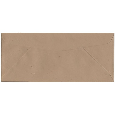 JAM Paper® #10 Business Envelopes, 4 1/8 x 9 1/2, Fossil Brown Recycled, 500/box (900905309H)