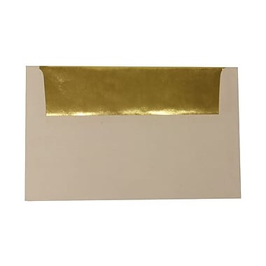 JAM Paper® A10 Foil Lined Envelopes, 6 x 9.5, White with Gold Lining, 50/Pack (900905660I)