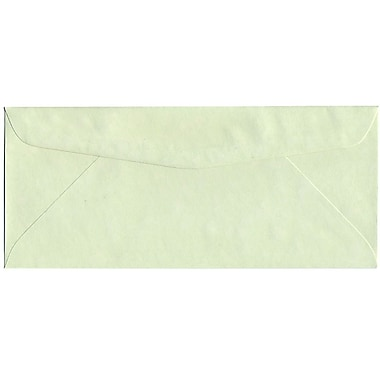 JAM Paper® #10 Business Envelopes, 4 1/8 x 9.5, Parchment Green Recycled, 500/Pack (900906636H)