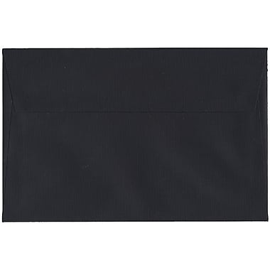 JAM Paper® A9 Invitation Envelopes, 5.75 x 8.75, Black Linen Recycled, 250/Pack (900906807H)