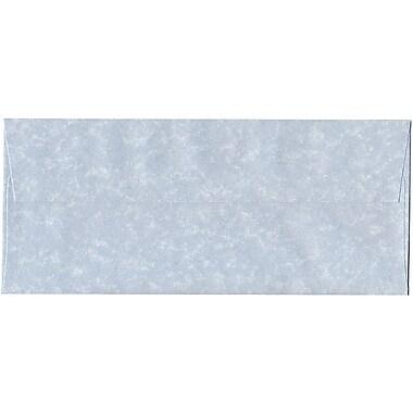JAM Paper – Enveloppes recyclées n° 10 (4,13 x 9,5 po), papier-parchemin bleu, 500/bte