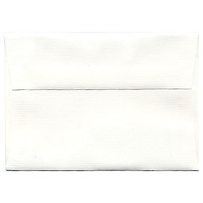 JAM Paper® 4bar A1 Envelopes, 3 5/8 x 5 1/8, Strathmore Bright White Laid, 250/box (900911330H)
