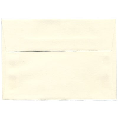 JAM Paper® 4bar A1 Envelopes, 3 5/8 x 5 1/8, Strathmore Natural White Laid, 250/box (900913182H)