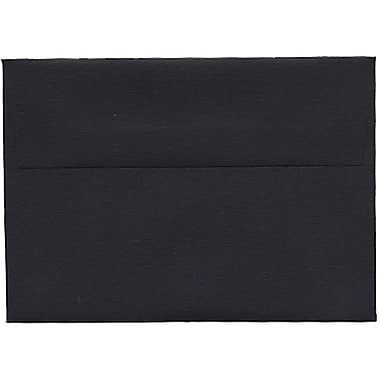 JAM Paper® 4bar A1 Envelopes, 3.63 x 5 1/8, Black Linen Recycled , 250/Pack (900919196H)