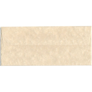 JAM Paper® #10 Business Envelopes, 4 1/8 x 9 1/2, Parchment Natural Recycled, 1000/carton (900926651B)