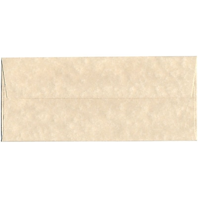 JAM Paper® #10 Business Envelopes, 4 1/8 x 9 1/2, Parchment Natural Recycled, 50/pack (900926651I)