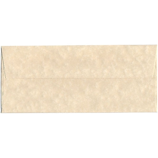 JAM Paper® #10 Parchment Business Envelopes, 4.125 x 9.5, Natural Recycled, 50/Pack (900926651I)