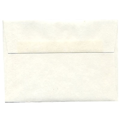 JAM Paper® 4bar A1 Envelopes, 3 5/8 x 5 1/8, Parchment White Recycled, 50/pack (900926656I)