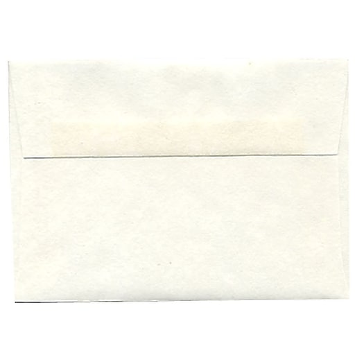 JAM Paper® 4Bar A1 Parchment Invitation Envelopes, 3.625 x 5.125, White Recycled, Bulk 250/Box (900926656H)