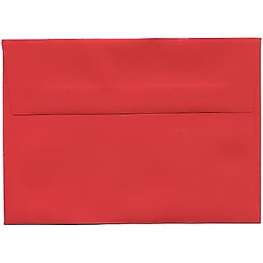 JAM Paper® 4bar A1 Envelopes, 3.63 x 5 1/8, Brite Hue Red Recycled, 250/Pack (900927182H)