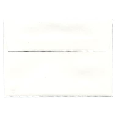 JAM Paper® 4bar A1 Envelopes, 3.63 x 5 1/8, Strathmore Bright White Wove, 250/Pack (900928601H)
