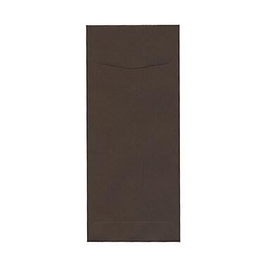 JAM Paper – Enveloppes commerciales nº 10 en papier recyclé (4,13 po x 9,5 po), brun chocolat, 500/bte