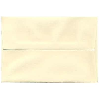 JAM Paper® A8 Invitation Envelopes, 5.5 x 8.125, Strathmore Ivory Laid, 50/Pack (90810172I)