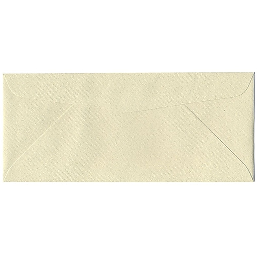 JAM Paper® #10 Passport Business Envelopes, 4.125 x 9.5, Gypsum Recycled, Bulk 500/Box (9222H)