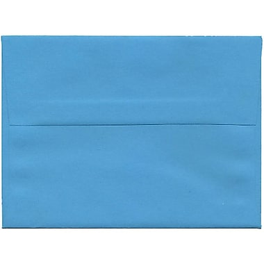 JAM Paper® A6 Invitation Envelopes, 4.75 x 6.5, Brite Hue Blue Recycled, 250/Pack (94523H)