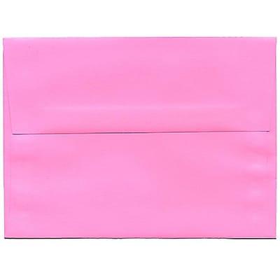 JAM Paper® A6 Invitation Envelopes, 4.75 x 6.5, Brite Hue Ultra Pink, 50/pack (94606I)