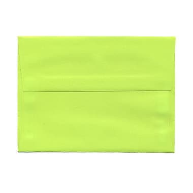 JAM Paper® A7 Invitation Envelopes, 5.25 x 7.25, Brite Hue Ultra Lime Green, 250/Pack (96151H)