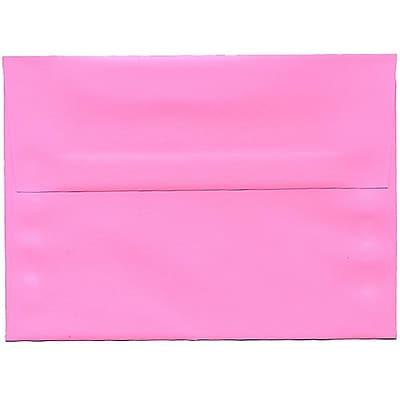 JAM Paper® A7 Invitation Envelopes, 5.25 x 7.25, Brite Hue Ultra Pink, 50/pack (96268I)