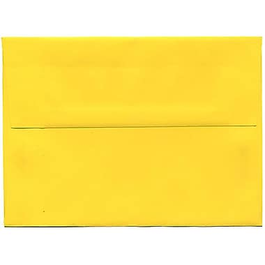 JAM Paper® A7 Invitation Envelopes, 5.25 x 7.25, Brite Hue Yellow Recycled, 250/Pack (96326H)