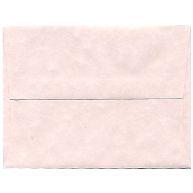 JAM Paper® A2 Invitation Envelopes, 4.38 x 5.75, Parchment Pink Recycled, 250/Pack (97800H)