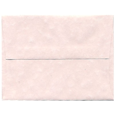 JAM Paper® A2 Invitation Envelopes, 4 3/8 x 5 3/4, Parchment Pink Recycled, 50/pack (97800I)