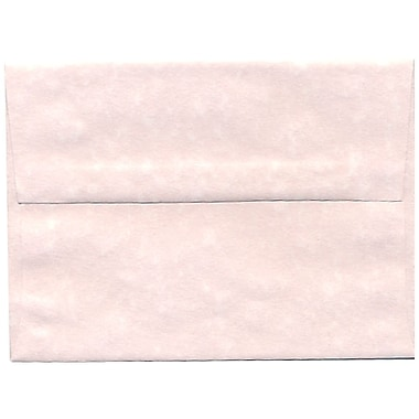 JAM Paper® A6 Invitation Envelopes, 4.75 x 6.5, Parchment Pink Recycled, 250/box (97818H)