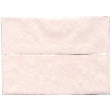 JAM Paper® A7 Invitation Envelopes, 5.25 x 7.25, Parchment Pink Recycled, 50/pack (97834I)