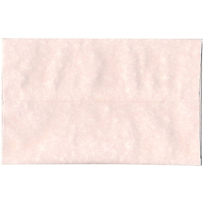 JAM Paper® A10 Invitation Envelopes, 6 x 9.5, Parchment Pink Recycled, 50/pack (97859I)