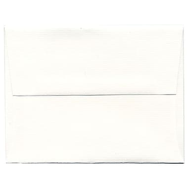 JAM Paper® A2 Invitation Envelopes, 4 3/8 x 5 3/4, Strathmore Bright White Laid, 250/box (99118H)