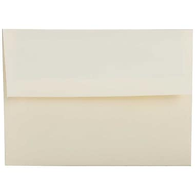 JAM Paper® A2 Invitation Envelopes, 4.38 x 5.75, Strathmore Natural White Linen, 250/Pack (99761H)
